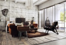 industrial designer living room
