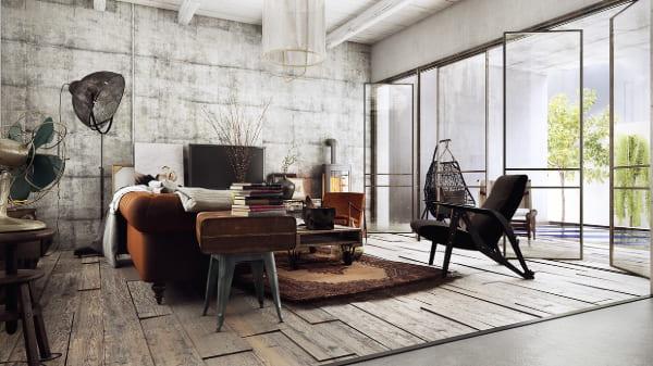 industrial designer living room