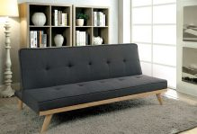 dark gray sofa bed