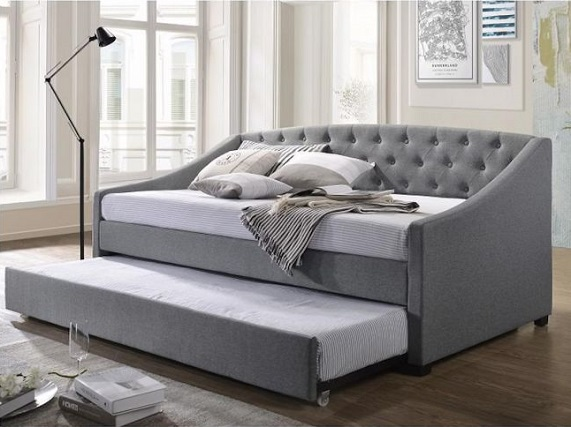 gray daybed with trundle bed