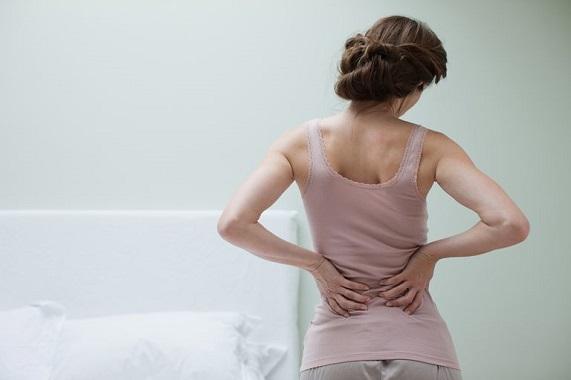 girl with lumbar pain