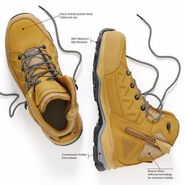 boots with safety toe cap