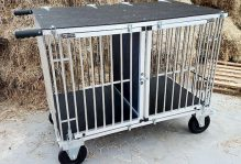 show trolley for two dogs