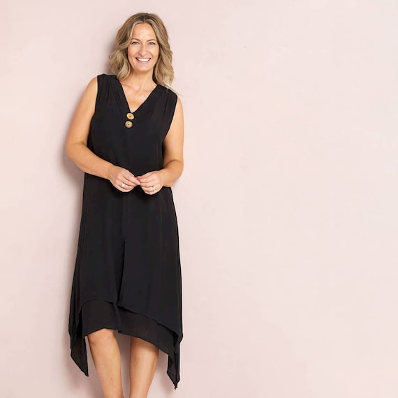 black dress for mature woman