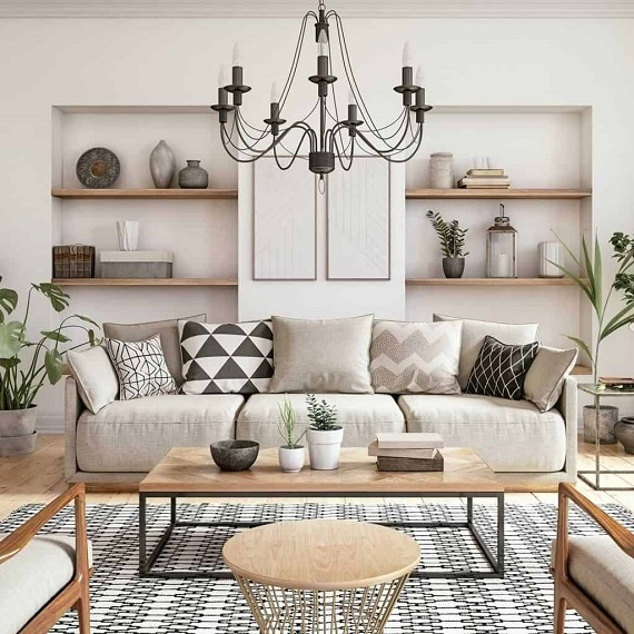 Accessorizing the space with decor cushions