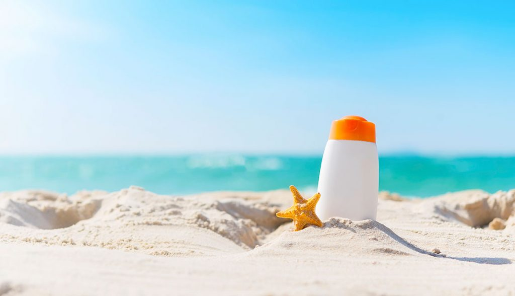 beautiful sunny day use sunscreen for your healthy
