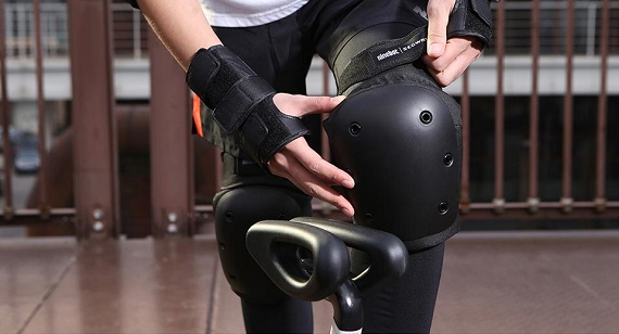 black safety scooter equipment